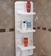abs plastic three tier shelf in white colour l 13 w 7 h 38 inches bathroom shelves bath fixtures bath laundry pepperfry