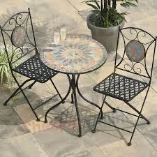 2 person 60cm cairo mosaic bistro garden furniture set