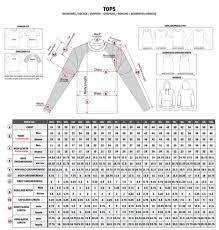 Body Length Size Chart Standard Sizing Chart Professional Fit Willix Sports