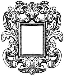 Drawn mirror mirror frame Pencil and in color drawn mirror mirror
