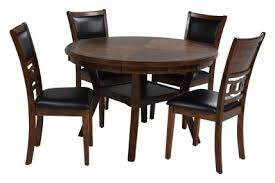 gia round table with 4 chairs in light brown