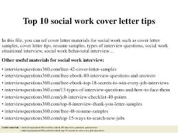 Msw Cover Letter Social Work Cover Letter Top Social Work Cover