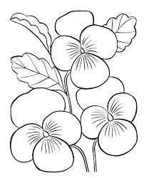Coloring Pics Of Flowers Easy Flower Coloring Pages Free Printable