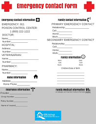 Emergency List Emergency Contact List Colistings