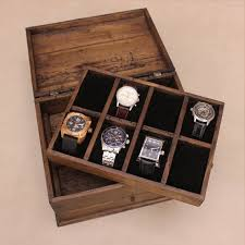 17 best ideas about watch box mens watch box personalized rustic men s watch box for 8 by ourweddinginvites