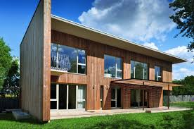 contemporary wooden house front
