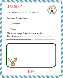 Free Printable Letter From Santa Template Claus Uk Brochure