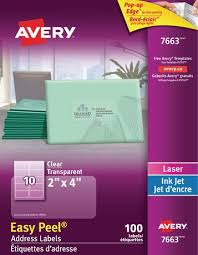 Avery Address Lables Avery Clear Address Labels With Easy Peel Walmart Canada