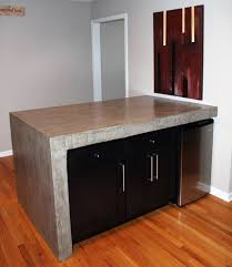 Rolling Kitchen Island Table Concrete Table With A Rolling Kitchen Island Underneath Album