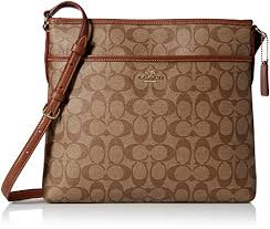 Coach Signature File Crossbody Bag F34938