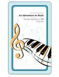 School Concert Event Program Templates Music Education