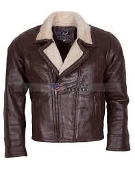 men choco brown b3 er fur lined leather jacket