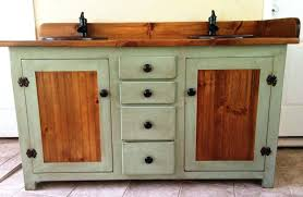 stylish bathroom vanity distressed black country cabinets rustic double