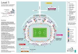 Level 1 Stadium Map All Seats Starting With A Block Number