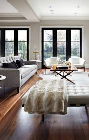 Modern Living Rooms Living Room Gray Recliners White Shelves Gray Sofa Brown Chairs