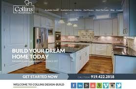 Collins Design Build Home Builder Website Home Builder Websites By Beauteous Home Builders Designs