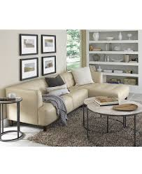 Living Room Furniture Pieces Alessia Leather Sectional Living Room Furniture Sets Pieces