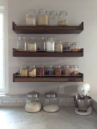 Kitchen Spice Rack Spice Storage Rack Floating Wooden Shelf Floating Spice Rack For