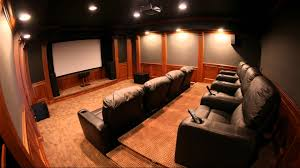 Interior:Theater Room Ideas for Changing Your Basement Futuristic Theater  Room Design With Comfy Black