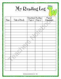 Reading Log Chart Daily Reading Log Is Used For Students To Chart Their Daily