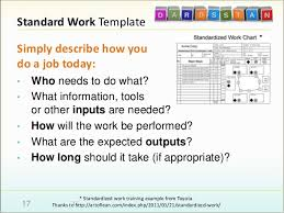 Standard Work Chart Example Advancing The Retrospective Dynamic Lean Agile Continuous