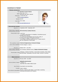 Download Standard Resume Format Standard Cv Form Download Cv For