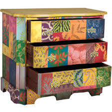 boho chic furniture. hand painted floral chest bohemian chic polyvore for incredible boho style furniture
