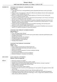 Construction Project Resume Samples Velvet Jobs