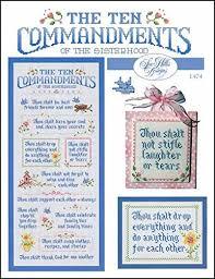 10 Commandments Chart Amazon Com Ten Commandments Of The Sisterhood Cross Stitch