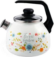 Купить <b>Чайник</b> Appetite Floral kitchen <b>эмалированный со свистком</b> ...