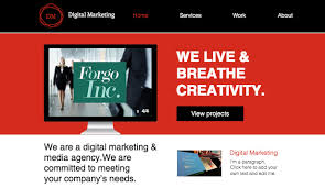website advertisement template advertising marketing website templates business wix