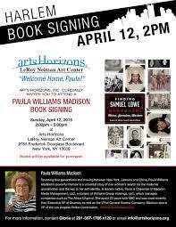 book signing flyer harlem book signing sunday april 12 finding samuel lowe