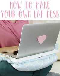 make your own lap desk out of an old pillow really neat and easy