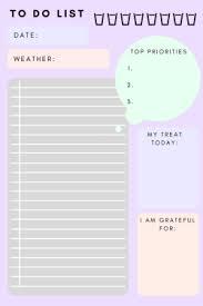 List To Do To Do List Printable Tumblr