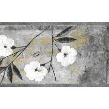 Dundee Deco 7-in Floral White, Gray ...