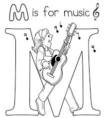 Small Picture Coloring Pages About Music Coloring Pages