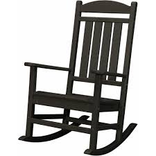 patio rocking chairs hanover black all weather pineapple cay porch rocker hvr100bl