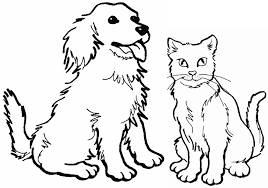 Small Picture Inspiring Dog And Cat Coloring Pages Cool Colo 5585 Unknown