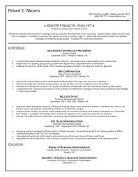 Financial Analyst Resume Examples | Nfcnbarroom.com