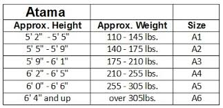 Atama Size Chart Spedizione Gratuita Atama Mundial 9 Brasiliano Jiu Jitsu