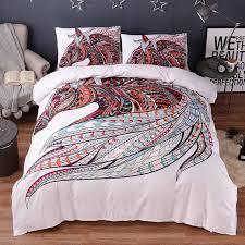 wongsbedding indian symbol horse bedding set hd print tribal horses duvet cover set twin full queen