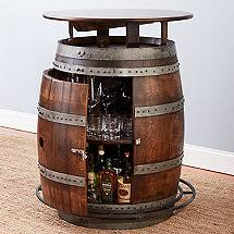 Image Coffee Table Vintage Oak Barrel Bistro Table whiskey Finish Decor Snob Wine Barrel Furniture Wine Enthusiast