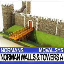 Medieval Norman Walls & Towers Blocks A 3D Model $120 - .3ds ...