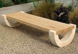 stone garden bench curved barley gold