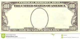 Design Your Own Dollar Bill Template Blank 100 Dollar Bill Portrait Side Stock Illustration