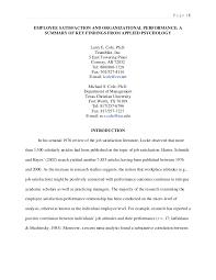 Job Satisfaction   PSYCH      Work Attitudes and Job