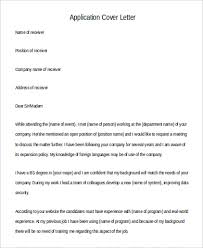 General Cover Letter Format Unique 40 Application Letter Formats Sample Templates