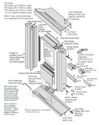 sliding wardrobe doors detail.  Doors Technical Tall Wide Sliding Wardrobe Doors Details  For Detail A