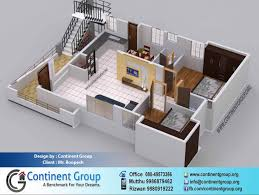 3d floor plan service in bangalore continent group home plans 3d 2 bhk