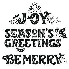 seasons greetings clip art black and white. Delighful Art Seasons Greetings Be Merry Collection Of Hand Drawn Winter Holiday  Sayings Intended Greetings Clip Art Black And White S